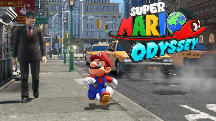 Super Mario Odyssey, New Donk City, Mario, Cappy