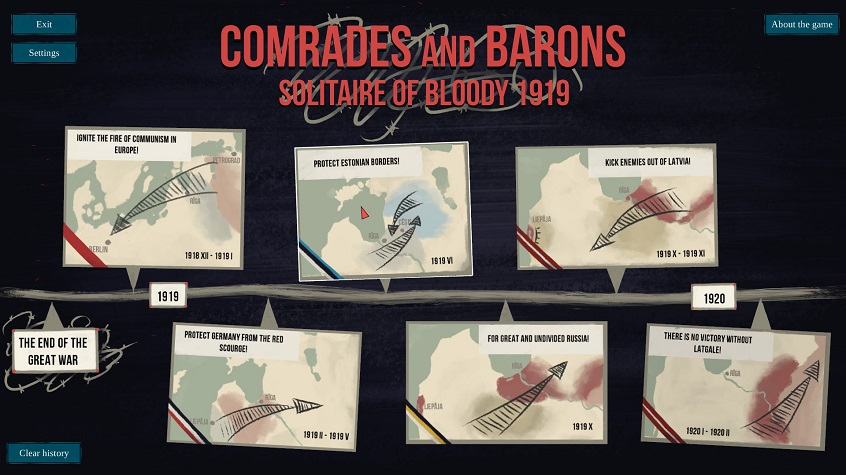 Comrades and Barons: Solitaire of Bloody 1919 release on Steam