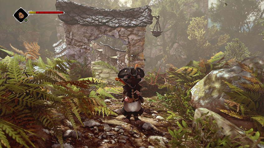 Ghost, Tale, Tilo, mouse, arch, stone, foliage, thief, lute, health, stamina