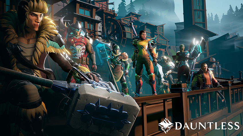 Dauntless, closed, beta, slayers, armor, city, hub, hammer, sward, axe, blades