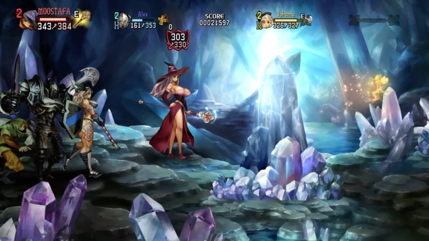 dragon's crown pro gameplay of sorceress in the lost woods