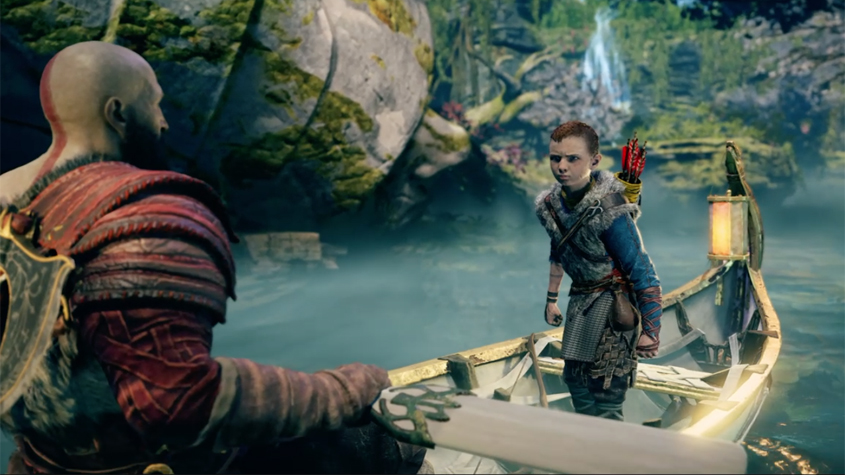 atreus gets angry with kratos in alfhiem