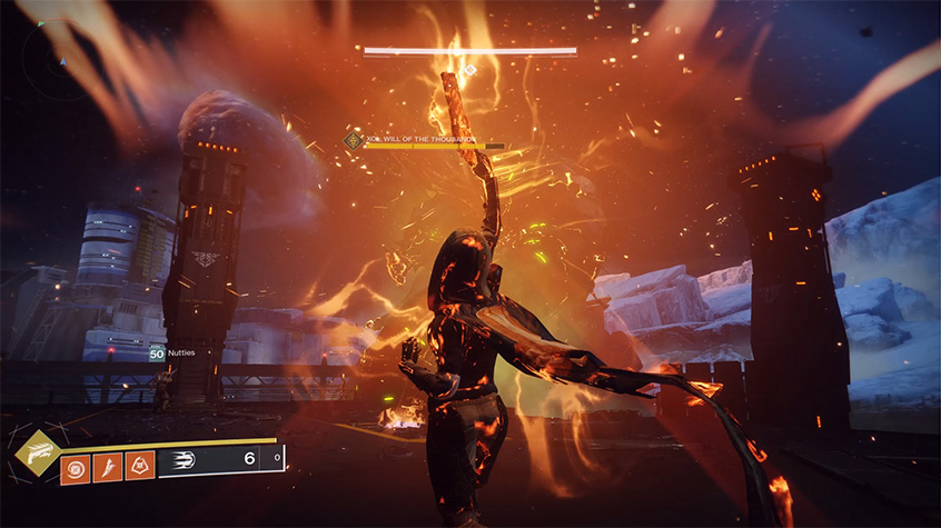 Hunter from Destiny 2 unleashes Golden Gun super ability