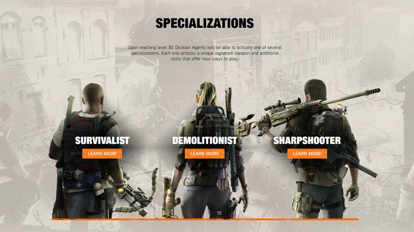 There are three Specialist choices at launch.