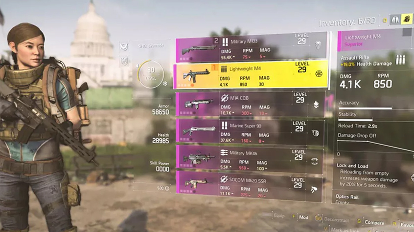 There's an all-new drop and loadout system in the Division 2.
