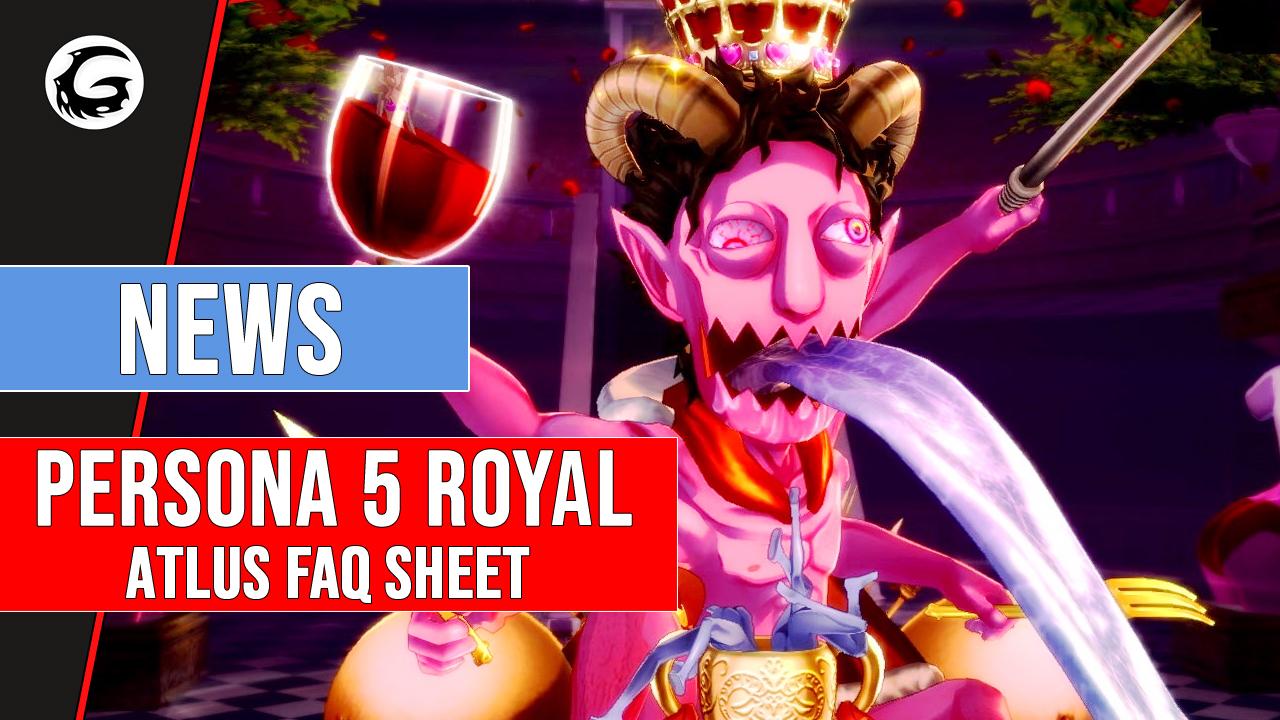 Persona 5 Royal FAQ Sheet Answers Various Questions   Gaming